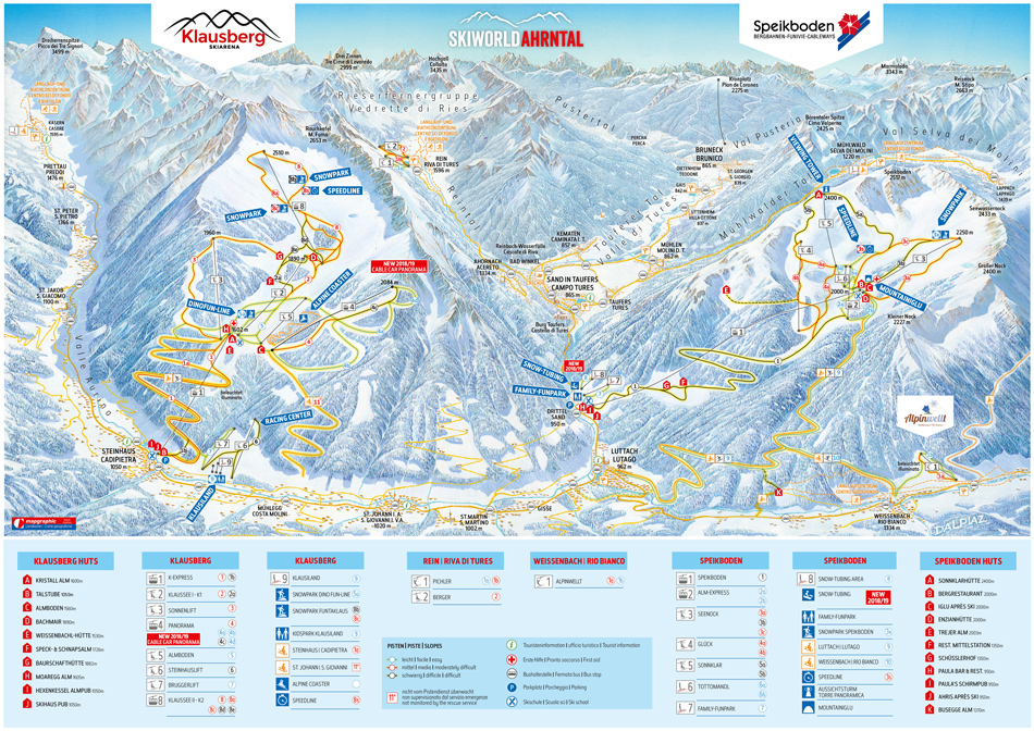 Slope Plan Skiworld Ahrntal